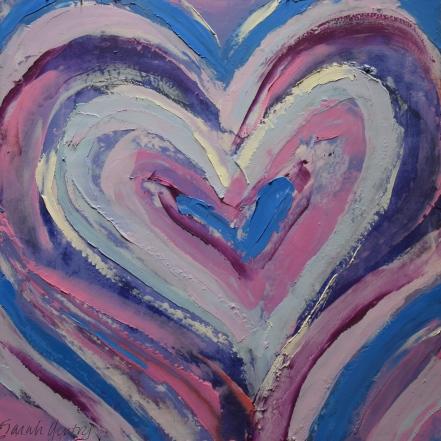 "Lavender Heart 12""x12"""